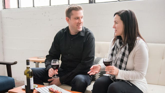 Dan and Amanda Nowak are partners in Tall Guy and a Grill catering.