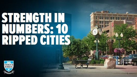 Sioux Falls was named the most ripped city by  bodybuilding.com