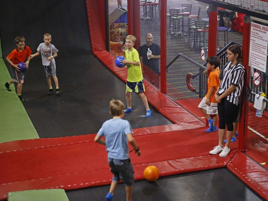 Dodge ball at AZ Air Time Indoor Trampoline Park & Family Fun Center