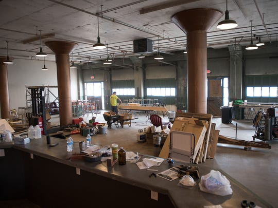 Work is underway at 13 Stripes Brewery in Taylors Mill on Monday, March 6, 2017.