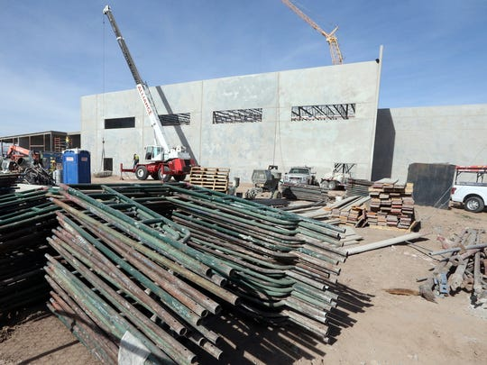 Construction work continues on a new elementary/middle school campus at Valley View Middle School, 8660 North Loop in El Paso's Lower Valley.