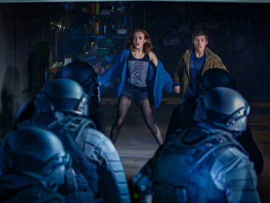 "The more dangerous elements of their VR escape also prove a problem in the real world for Samantha (Olivia Cooke) and Wade (Tye Sheridan) in ""Ready Player One."""