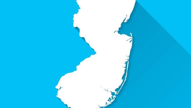 Map of New Jersey.