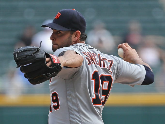 Starting pitcher Anibal Sanchez of the Detroit Tigers