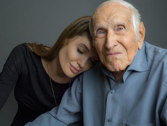 Angelina Jolie and Louis Zamperini
