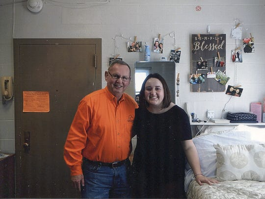 Brittany Batson's dorm room at Tennessee Tech turned