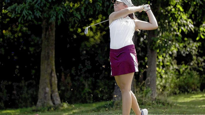 Sophomore Sydney Dillon is among the top players for the Canal Winchester girls golf team, which played the first round of the four-round OCC-Central Division tournament Aug. 12 at Royal American.