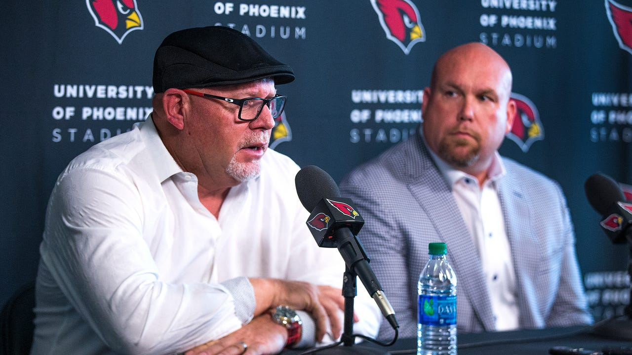 Arizona Cardinals head coach Bruce Arians and General Manager Steve Keim talk about the upcoming NFL draft.  Video by Tom Tingle   azcentral.com