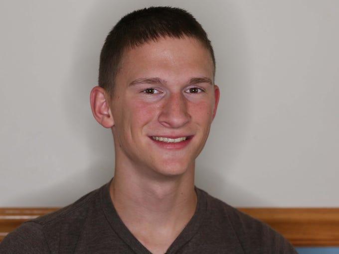 Brandon McCaughey in his Carlisle home on Sunday, Nov.