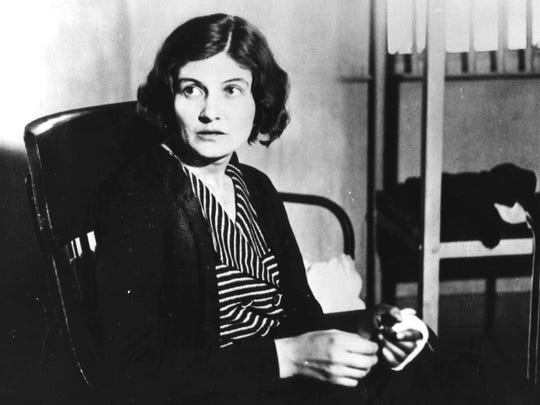 """Winnie Ruth Judd, the infamous """"Trunk Murderess,"""" pictured in 1931, spent three decades in an Arizona mental hospital."""