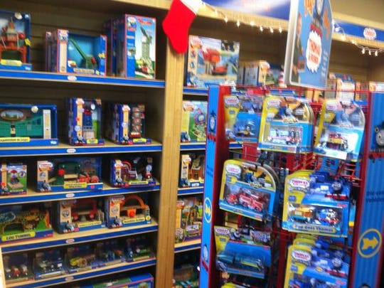 Trains Galore, (15360 Herriman Blvd. in Noblesville, has a great collection of train toys, from Thomas the Train to Chuggington to others.