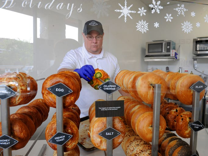 Jay Ellett, owner of  Flatiron Bagel Co. in Thousand