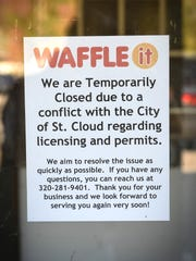 Waffle-It is temporarily closed because of a city permit