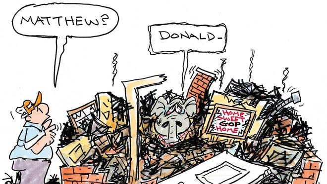 Charlie Daniel editorial cartoon for Tuesday, Oct. 11, 2016.