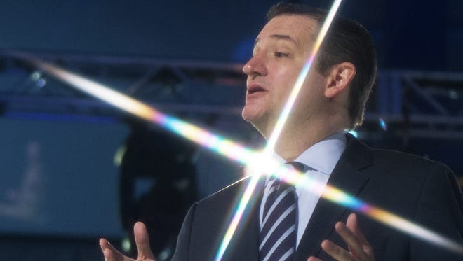 Sen. Ted Cruz, R-Texas,  announces his candidacy for president on Monday.