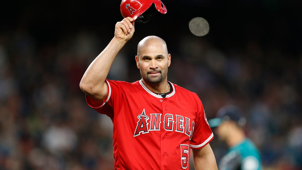 Albert Pujols became the 32nd player in baseball history to reach 3,000 career hits and just the fourth with 3,000 hits and 600 home runs.