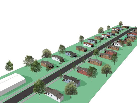 A rendering of Eden Village.