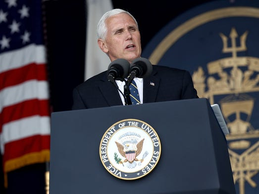 Pence delivers the commencement address at the U.S.