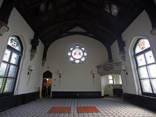 A view of The Great Hall inside of The Castle At Tarrytown.