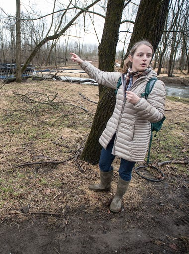 Jami Willard is not happy with the Atlantic Sunrise pipeline construction environmental practices in North Annville Township near her family's farm.