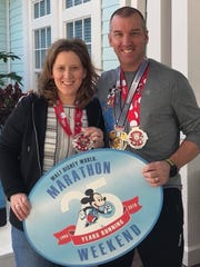 The husband-wife team of Mark and Ranee Ward competed at last weekend's Walt Disney World Marathon Weekend. Both runners completed the 10K race, with Mark also finishing the marathon.