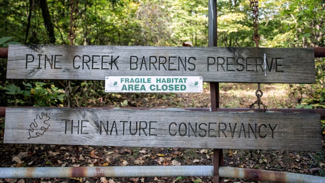 A small parking lot roughly a mile off of KY-480 will provide more information about the Pine Creek Barrens Preserve when it officially opens in October. 9/21/17