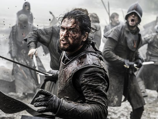 Kit Harington in a scene from Season 6 of the HBO series