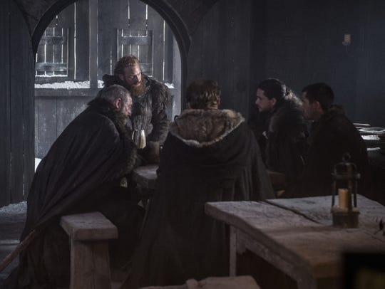 Tormund, Jon, Gendry, Jorah and Davos, ready to go