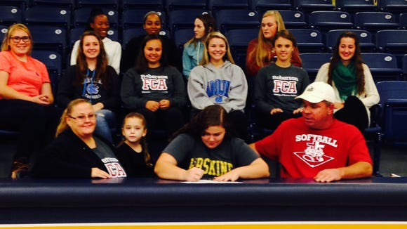 Roberson's Sam Schmidt has signed to play college softball for Erskine (S.C.).