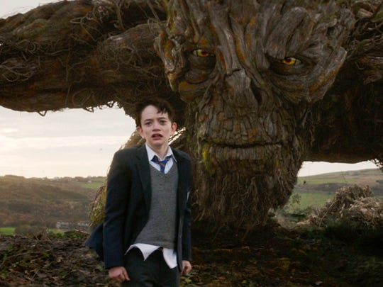 Lewis MacDougall appears with The Monster, voiced and