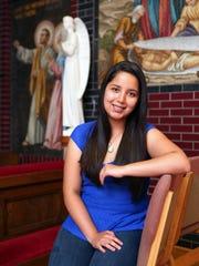 Emily Maldonado is pictured at the former Corpus Christi