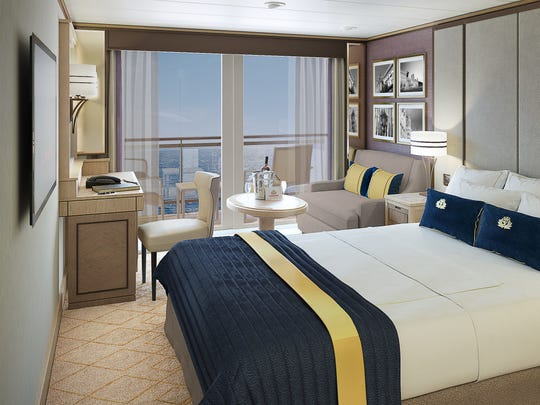 This rendering shows what Britannia Club cabins will