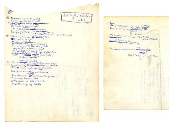 Bob Dylan's handwritten ode to Wisconsin from November