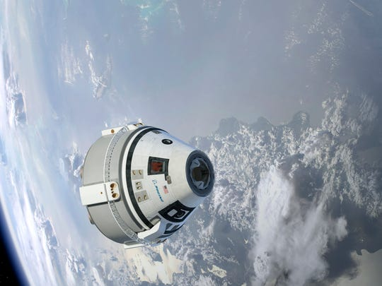 Boeing's Starliner capsule, which is being developed to take astronauts and cargo to the International Space Station.