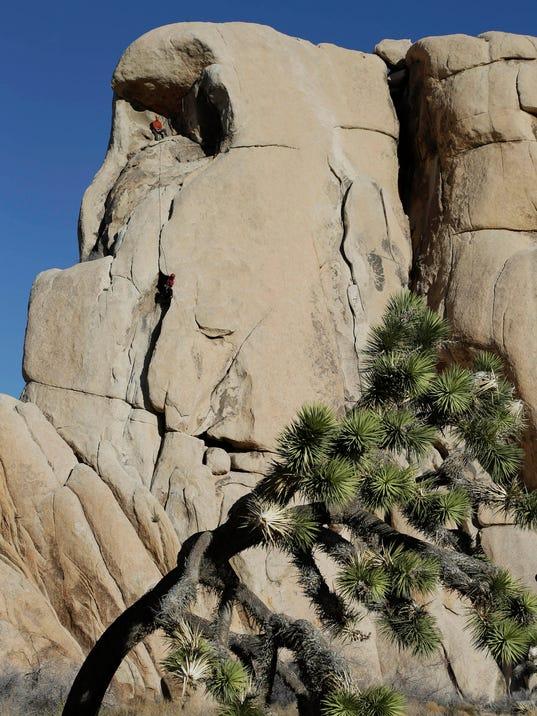AP ROCK CLIMBING ANCIENT EQUIPMENT A FILE USA CA