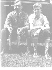 Edward A. Keenan Jr. with his dad Edward Sr., who later became mayor of Burlington. Photo is from 1936.