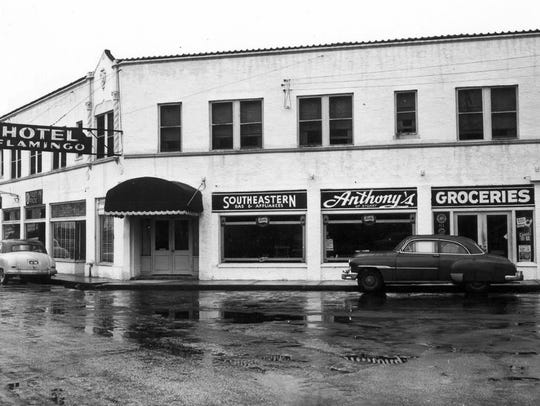 Anthony's Grocery Store in 1950 in the Krueger Building.