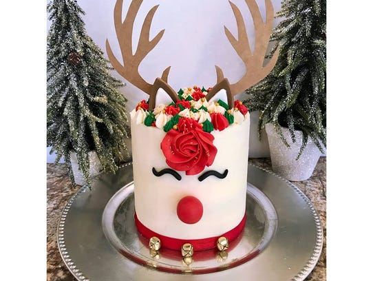 A reindeer cake from Sugar Specialty Bake Shoppe in