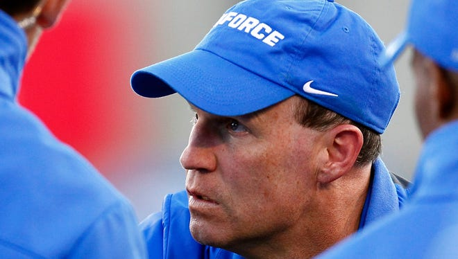 Coach Troy Calhoun and Air Force ended a seven-game losing streak Saturday by beating rival Army. The Falcons play next on Friday at New Mexico.