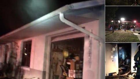 House fire Friday evening in Port St. John.