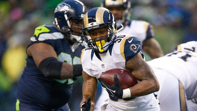 Todd Gurley rushed for 85 yards and a touchdown for the Rams.