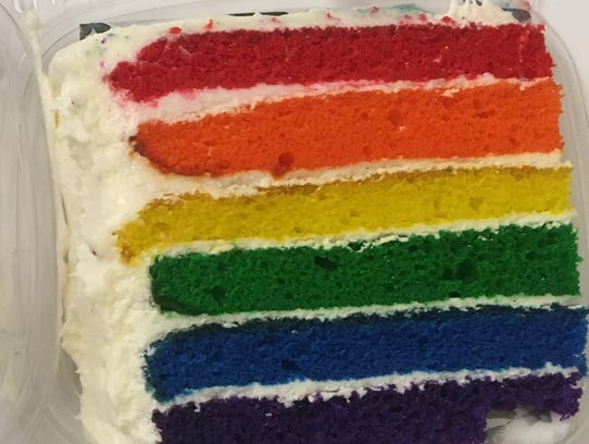 Goddess and the Baker sells its trademark rainbow cake.