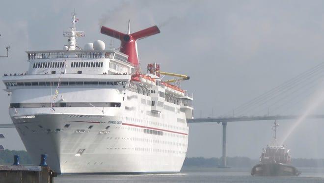 Carnival Cruise Line's 2,056-passenger Carnival Fantasy.