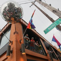A disco ball at The Connection bar during the 15th annual Kentuckiana Pride Parade in Louisville, KY. June 19, 2015