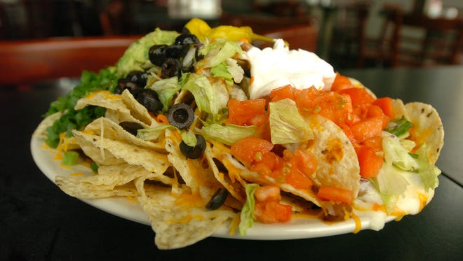 Deluxe nachos from Old Point Tavern on Mass Ave.