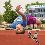 Harper Creek sophomore Charley Andrews is the defending Division 2 state champion in the high jump.