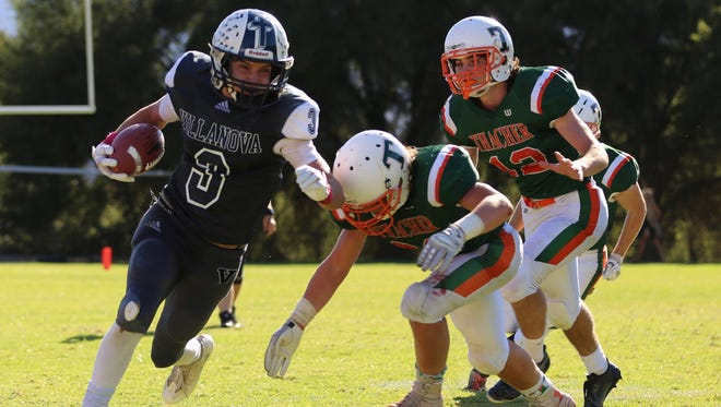 Senior Raegan Mang has scored 43 touchdowns for unbeaten Villanova Prep this season. According to MaxPreps, he is first in the nation among 8-man players and No. 2 in all of high school football.