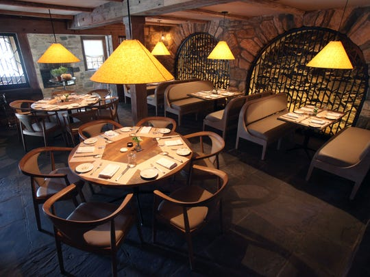 The downstairs dining room at The Inn at Pound Ridge, a new restaurant by Jean-Georges Vongerichten.