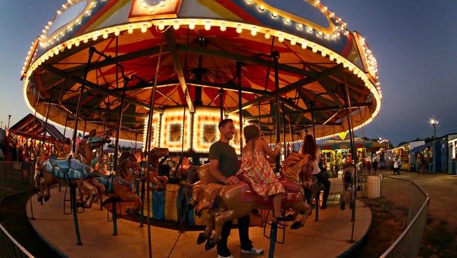 The Merry-Go-Round at the Sheboygan County Fair Thursday September 3, 2015 in Plymouth.