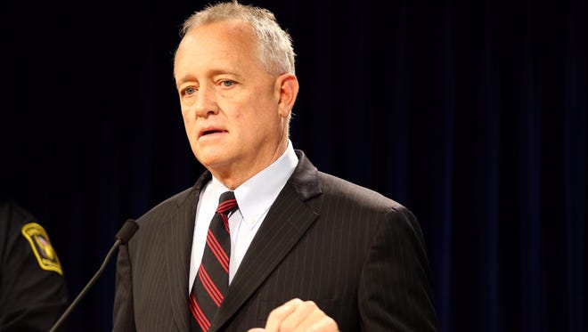 Hamilton County Prosecutor Joe Deters at a press conference discussing the investigation in to the killing of Sonny Kim.